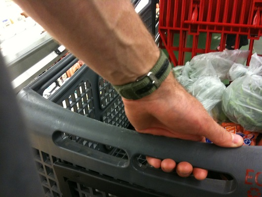 grabbing the cart