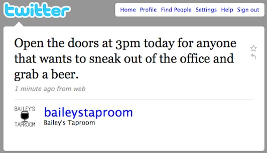 Twitter _ Bailey_s Taproom_ Open the doors at 3pm toda ...