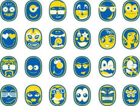 Chiquita Sticker Faces 72109