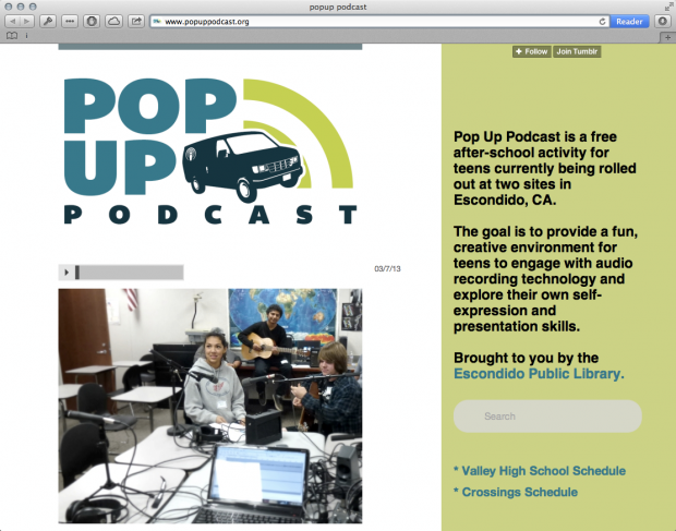 popup podcast